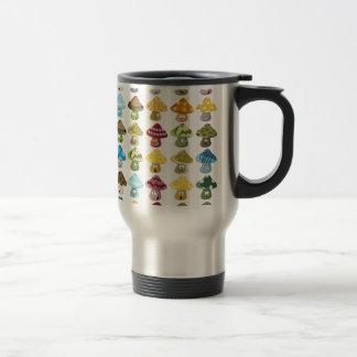 Magic Mushroom Smiley Pattern Mug
