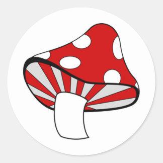 Magic Mushroom Round Stickers