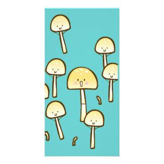 Magic Mushrooms Doodle Art Card