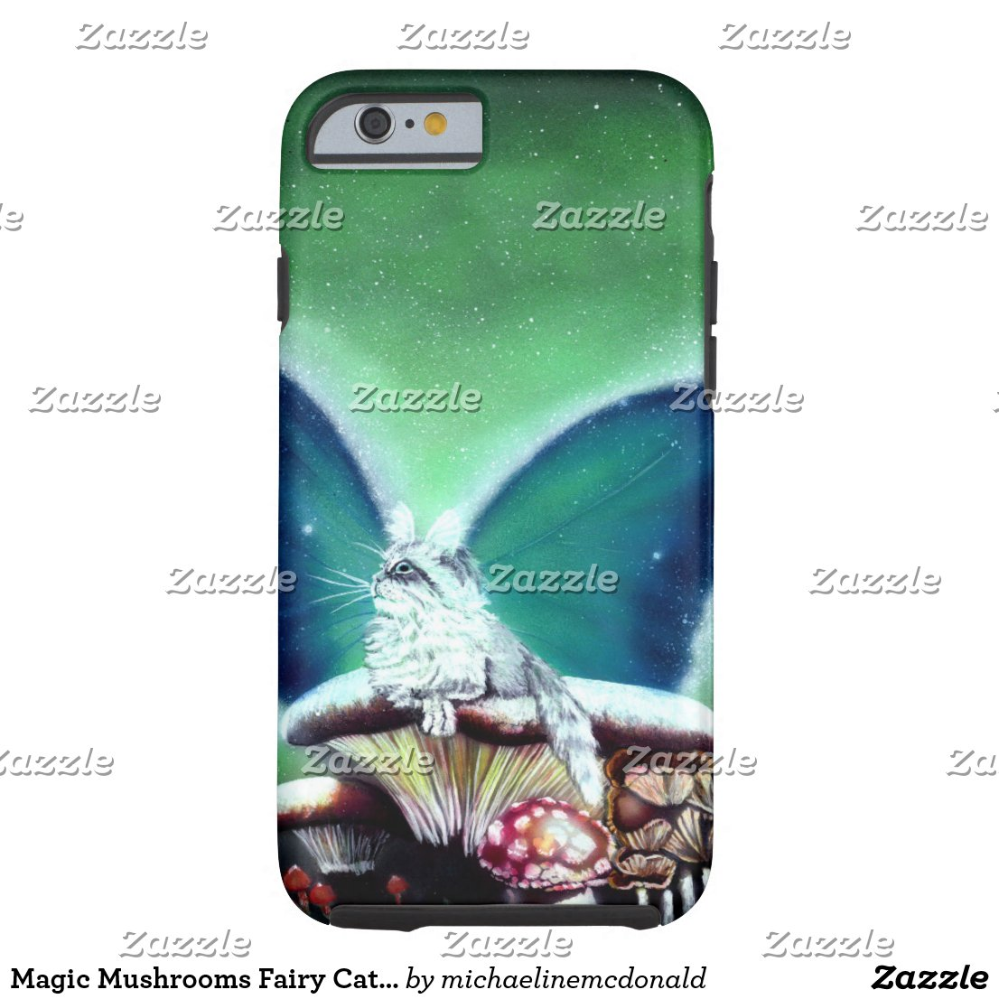 Magic Mushrooms Fairy Cat Phone Case