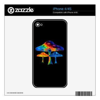 Magic Mushrooms Skin For The iPhone 4