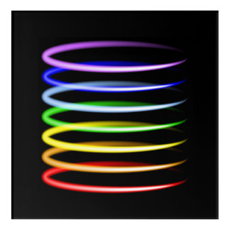 Magic neon colorful glowing light effect acrylic wall art