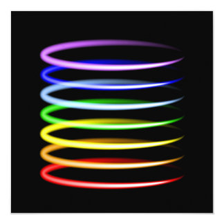 Magic neon colorful glowing light effect card