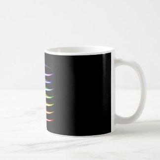 Magic neon colorful glowing light effect coffee mug