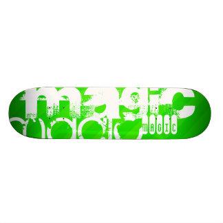 Magic; Neon Green Stripes Skateboards