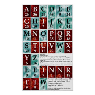 Magic Number Spelling Cards Poster