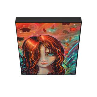 Magic of Autumn Fantasy Fairy Art Stretched Canvas Prints