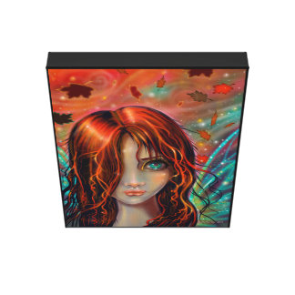 Magic of Autumn Fantasy Fairy Art Canvas Print