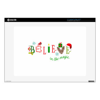 """Magic Of Christmas Decals For 15"""" Laptops"""