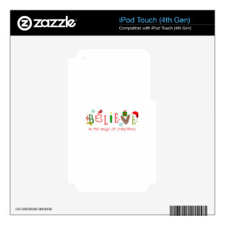 Magic Of Christmas iPod Touch 4G Decals