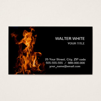 Magic of fire business card