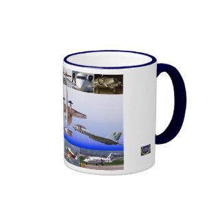 Magic of Flight Airplane Collage Coffee Mugs