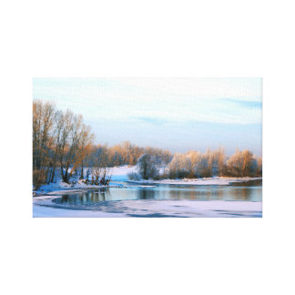 Magic of the blue hour canvas print