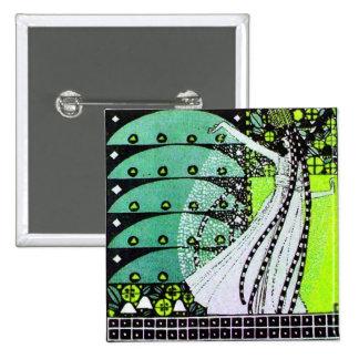 MAGIC OF THE SPRING bright green black  yellow Pins