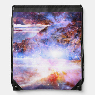 Magic of Turtle Beach Drawstring Bag