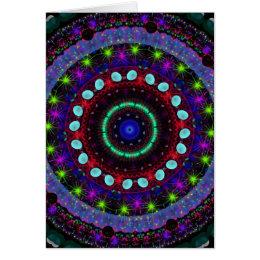Magic Orbs Mandala Note card