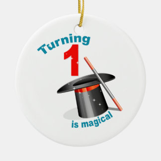 Magic Party 1st Birthday Ceramic Ornament