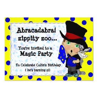 Magic Party 5x7 Paper Invitation Card