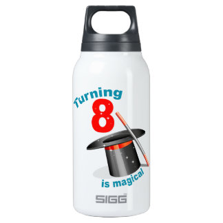 Magic Party 8th Birthday 10 Oz Insulated SIGG Thermos Water Bottle