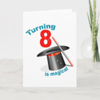 Magic Party 8th Birthday Card