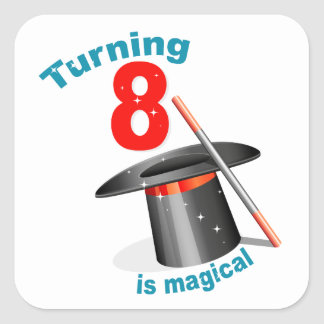 Magic Party 8th Birthday Stickers