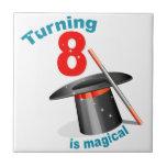 Magic Party 8th Birthday Tile
