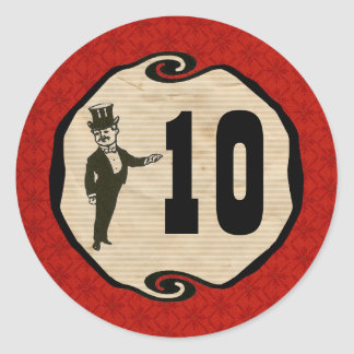 Magic Party Age Sticker