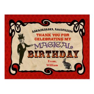 Magic Party Thank You Postcard