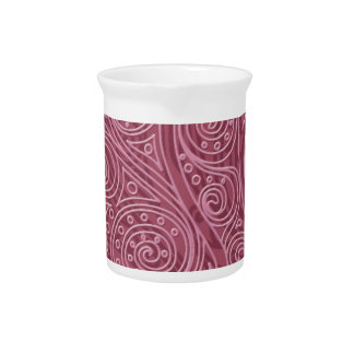 Magic Pattern spiral Cashmere Rose Pitcher