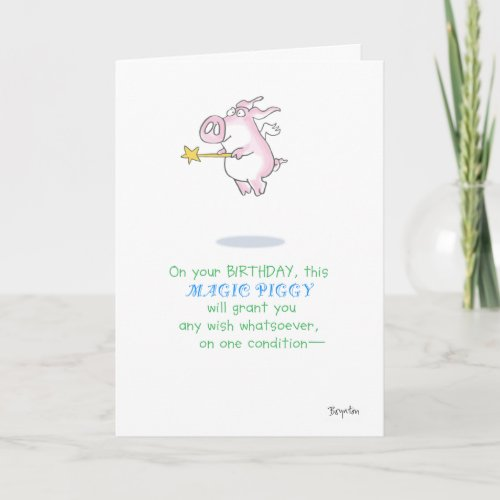 MAGIC PIGGY CARD
