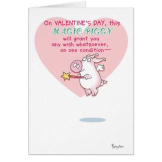 MAGIC PIGGY Valentines by Boynton Card