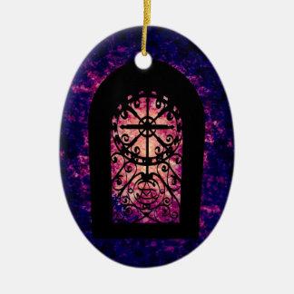 Magic portal ceramic ornament