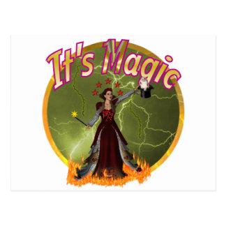 magic postcards