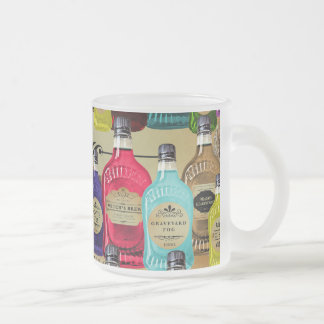 Magic Potion Apothecary Halloween Tonic Bottles Frosted Glass Coffee Mug