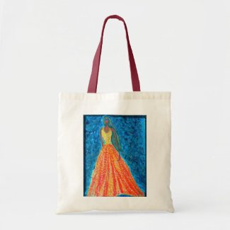 Magic Princess Fashion Illustration (Acrylic Pain) Tote Bag