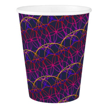USA Themed Magic Psychedelic Circles Paper Cup