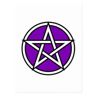 Magic Purple Pentagram Post Card