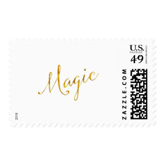 Magic Quote Faux Gold Foil Quotes Humor Sparkly Postage Stamp