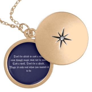 Magic Quote Gold Finish Locket