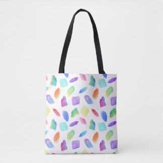 Magic Rainbow Crystals Colorful Crystal Gems Stone Tote Bag