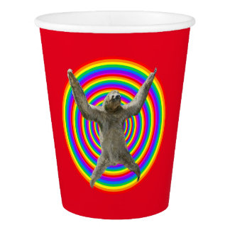 Magic Rainbow Sloth Paper Cup