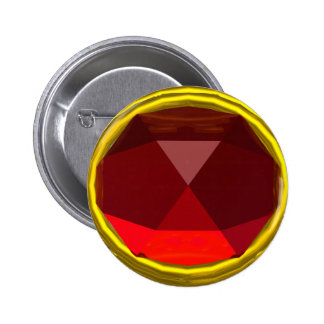 MAGIC RED RUBY GEMSTONE BUTTON