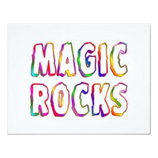 Magic Rocks 4.25x5.5 Paper Invitation Card