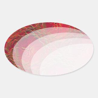 Magic Rose Oval Sticker