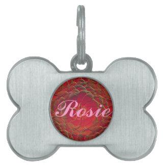 Magic Rose Pet Name Tag