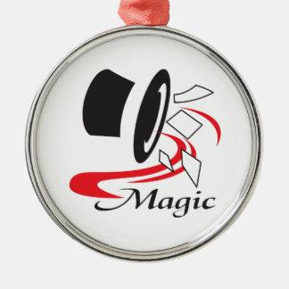 MAGIC ROUND METAL CHRISTMAS ORNAMENT