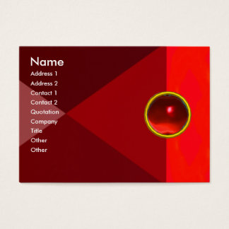 MAGIC RUBY  , bright vibrant red Business Card