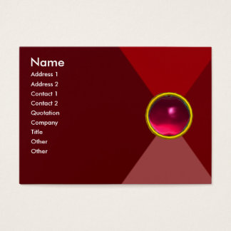MAGIC RUBY  , bright vibrant red pink Business Card