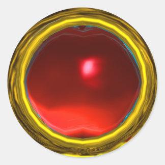 MAGIC RUBY , bright vibrant red yellow Sticker