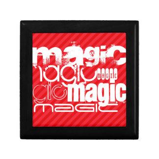 Magic; Scarlet Red Stripes Trinket Box